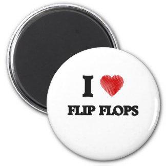 I love Flip Flops 2 Inch Round Magnet