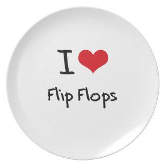 I Love Flip Flops Dinner Plates