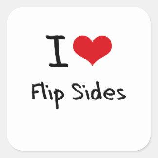 I Love Flip Sides Square Sticker