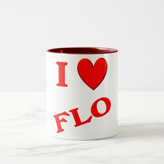 I Love Flo Two-Tone Coffee Mug