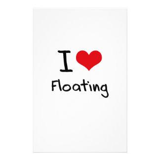 I Love Floating Customized Stationery