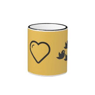 I Love Flock of Birds Ringer Coffee Mug