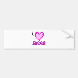 I LOVE Floor Bumper Sticker