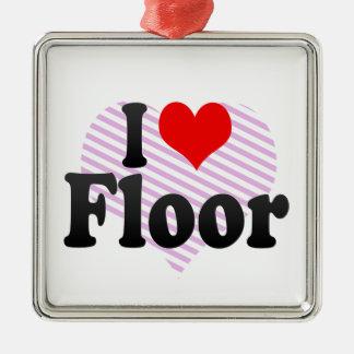 I love Floor Christmas Ornament