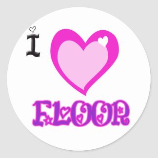 I LOVE Floor Sticker