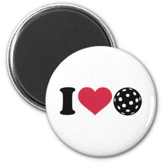 I love Floorball Fridge Magnets