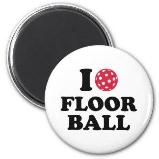 I love Floorball Refrigerator Magnet