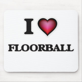 I Love Floorball Mouse Pad