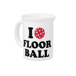I love Floorball Beverage Pitcher