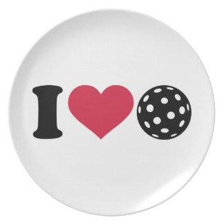 I love Floorball Dinner Plate