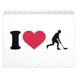 I love Floorball player Calendar