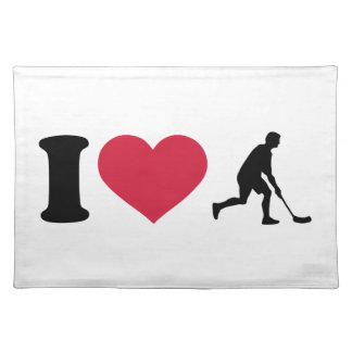 I love Floorball player Placemat