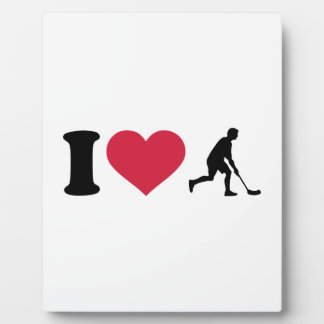 I love Floorball player Plaques
