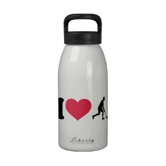 I love Floorball player Reusable Water Bottle