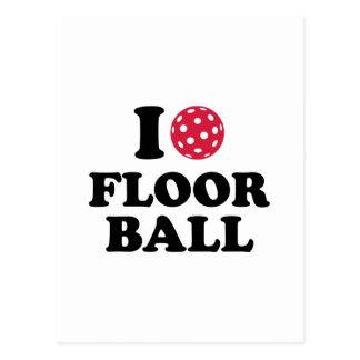 I love Floorball Postcard