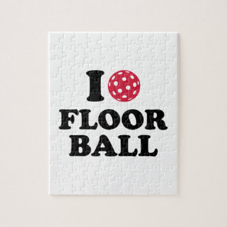 I love Floorball Jigsaw Puzzles
