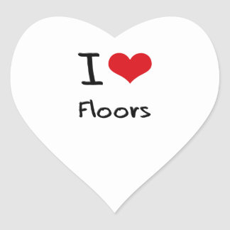 I Love Floors Heart Sticker