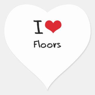 I Love Floors Heart Stickers