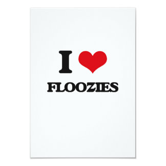 i LOVE fLOOZIES 3.5x5 Paper Invitation Card