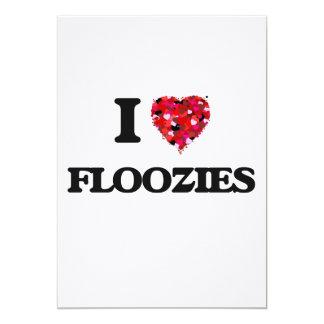 I Love Floozies 5x7 Paper Invitation Card