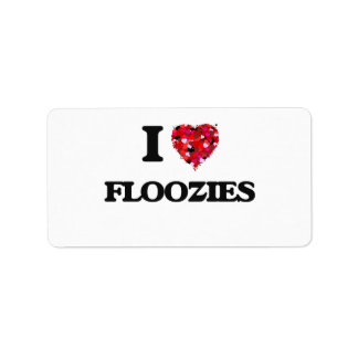 I Love Floozies Address Label
