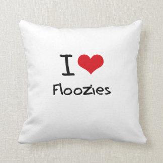 I Love Floozies Throw Pillows
