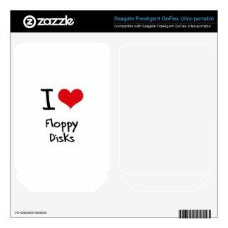 I Love Floppy Disks FreeAgent GoFlex Decals