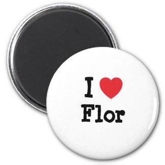 I love Flor heart T-Shirt Fridge Magnets