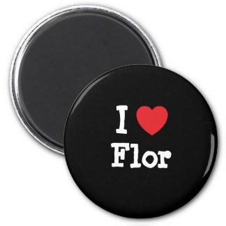 I love Flor heart T-Shirt Refrigerator Magnets