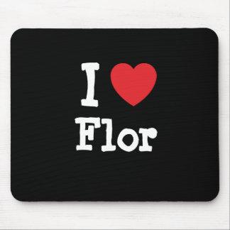 I love Flor heart T-Shirt Mouse Pads