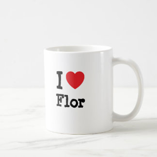 I love Flor heart T-Shirt Mugs