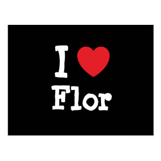 I love Flor heart T-Shirt Post Card