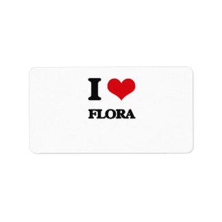 i LOVE fLORA Personalized Address Label