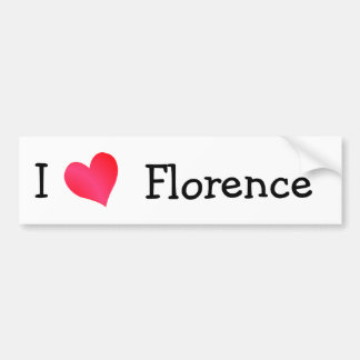 I Love Florence Car Bumper Sticker