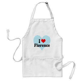 I Love Florence Italy Aprons