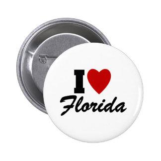 I Love Florida 2 Inch Round Button