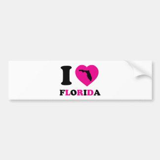 I Love Florida Car Bumper Sticker