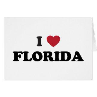 I Love Florida Greeting Cards