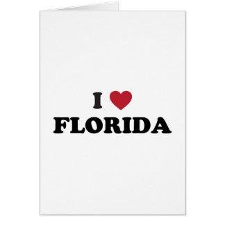 I Love Florida Greeting Card
