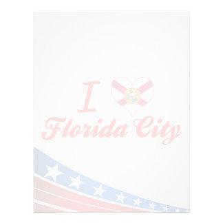 I Love Florida City, Florida Personalized Letterhead