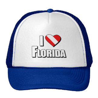 I Love Florida Diving Trucker Hat
