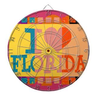 I love Florida - Pop art Dart Board