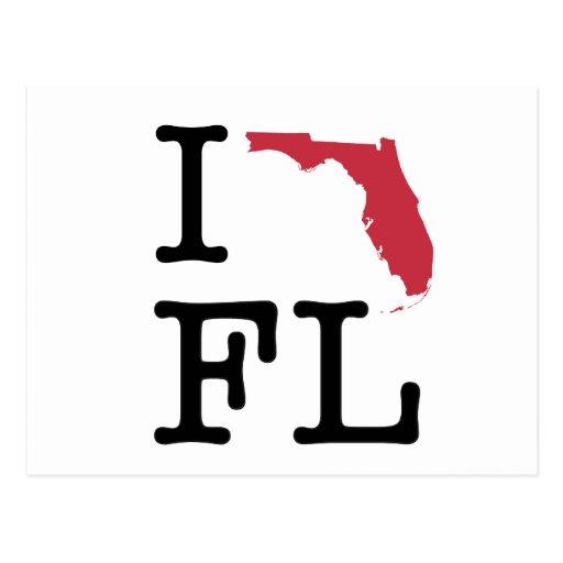 I Love Florida Post Cards