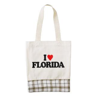 I LOVE FLORIDA ZAZZLE HEART TOTE BAG
