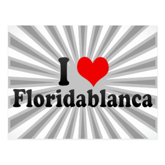 I Love Floridablanca, Colombia Postcard