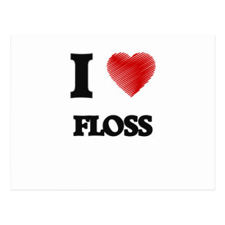 I love Floss Postcard