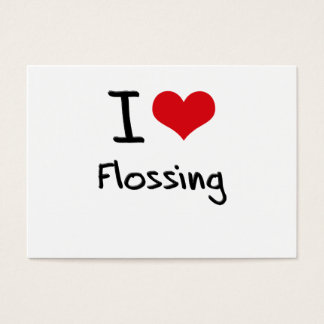 I Love Flossing Business Card