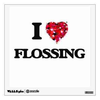 I Love Flossing Room Sticker