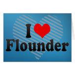 I Love Flounder Cards