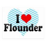 I Love Flounder Postcards